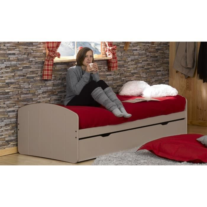 pack lit gigogne 90x200 2 matelas adulte midi achat vente lit gigogne lit gigogne. Black Bedroom Furniture Sets. Home Design Ideas