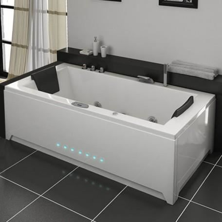 london baignoire baln o rectangulaire whirlpool 32 jets achat vente baignoire kit balneo. Black Bedroom Furniture Sets. Home Design Ideas