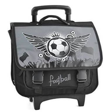cartable scolaire roulette gar on 40cm football achat. Black Bedroom Furniture Sets. Home Design Ideas