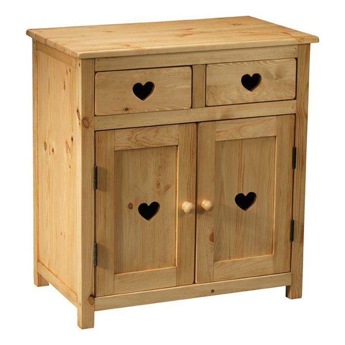 meuble rustique avec coeur 2 tiroirs 2 portes achat. Black Bedroom Furniture Sets. Home Design Ideas