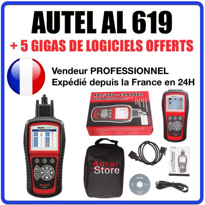 interface diagnostique auto multimarques autel autolink al619 obd2 vag com achat vente. Black Bedroom Furniture Sets. Home Design Ideas
