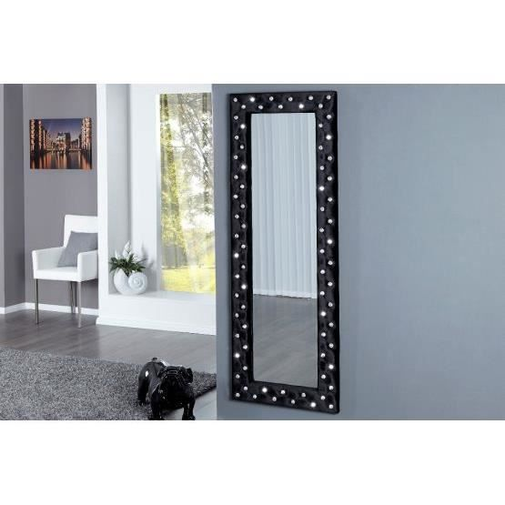 miroir design stariss noir achat vente miroir tissu acrylique coton cdiscount. Black Bedroom Furniture Sets. Home Design Ideas