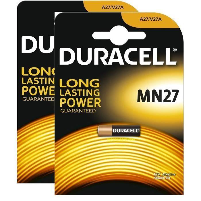 18mAh Alkaline Batterie 12V 10 x Duracell MN27 A27 V27A L828 GP27A