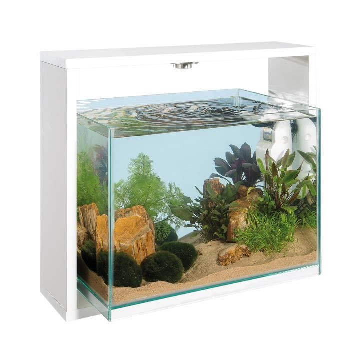 samoa 40 aquarium 30 litres en verre blanc 25 x 48 6 x 42cm achat vente aquarium aquarium 30. Black Bedroom Furniture Sets. Home Design Ideas