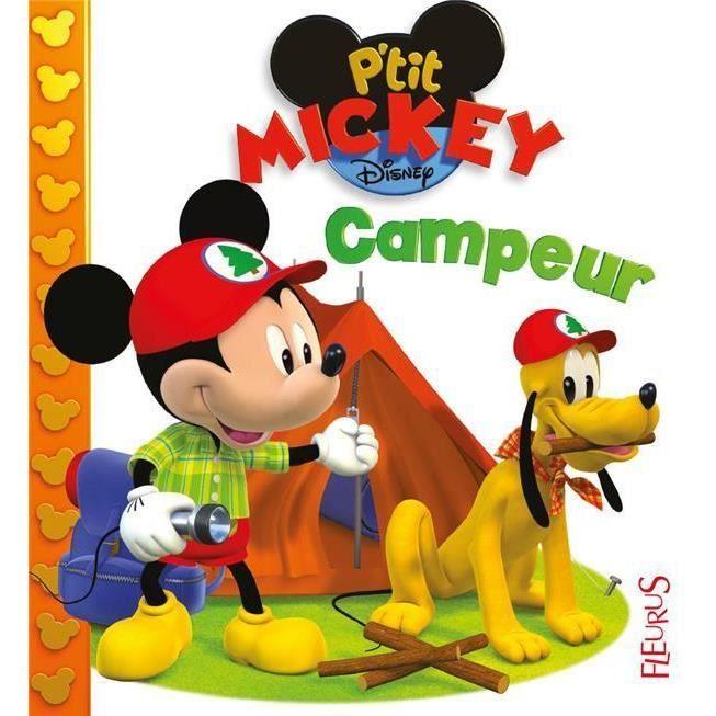 LIVRE 0-3 ANS ÉVEIL Livre - P'tit Mickey ; campeur