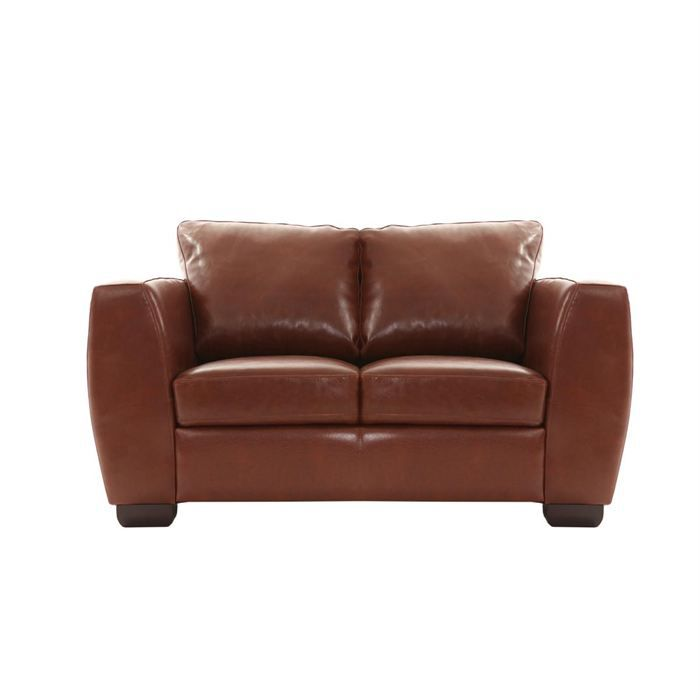 Canap cuir 2 places marron clair new chicago achat vente canap sofa divan cuir - Canape cuir marron clair ...