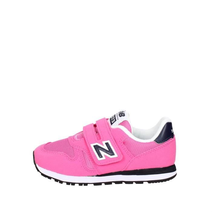 New Balance Petite Sneakers Fille Fuchsia, 33