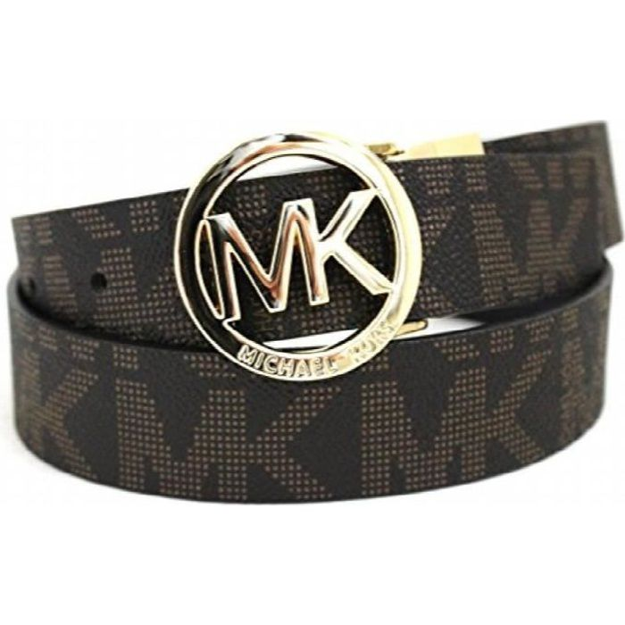 MICHAEL KORS Femmes Mk Signature monogramme ceinture et boucle de ...