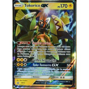 CARTE A COLLECTIONNER carte Pokémon SM33 Tokorico GX 170 PV Promo NEUF F