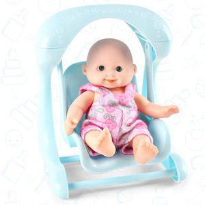 POUPÉE Poupée Bébé dans Berceau Nouveau-né en Plastique J