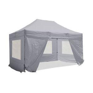 TONNELLE - BARNUM Barnum pliant 3x4.5m Pack fenêtre Alu 40 polyester