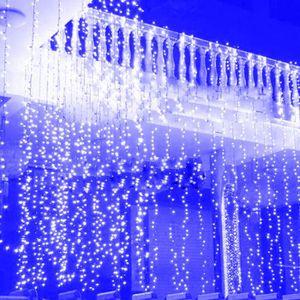 GUIRLANDE D'EXTÉRIEUR 3 * 3M 300 LEDs chaîne de fenêtre rideau de glace
