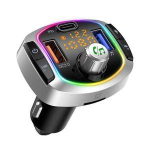 TRANSMETTEUR FM Transmetteur FM Bluetooth Kit de Voiture Mains Lib