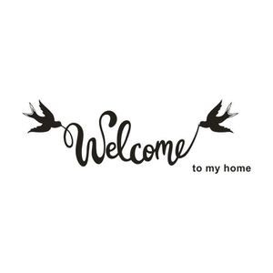 STICKERS DE NOËL Bienvenue sur My Home amovible Art Mural Vinyle Ac