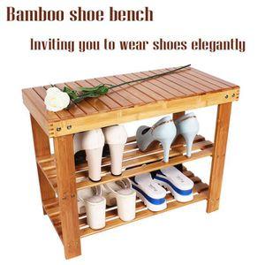 MEUBLE À CHAUSSURES Bambou chaussure banc chaussure banc étagère à cha