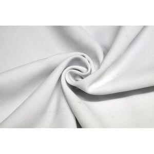 TISSU Tissu Burlington infroissable Uni Blanc Coupon de