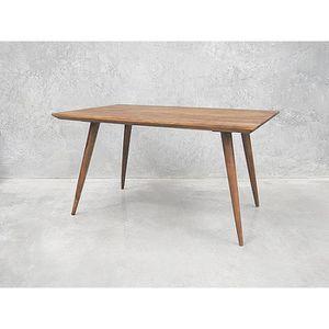 TABLE À MANGER SEULE Table scandinave pieds compas rectangulaire