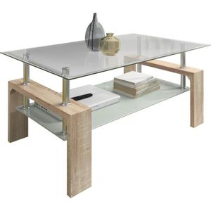 Table basse 2 plateaux verre achat vente table basse 2 for Table ultra basse