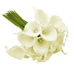 Blanc Calla Lily Ensemble//bande 23 cm Fleurs De Soie Artificielle