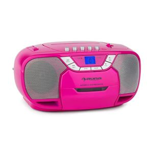 RADIO CD CASSETTE auna BeeGirl Boom Box Ghettoblaster - Radio portab