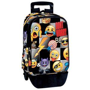 CARTABLE Sac à dos à roulettes Emoji Sticker 43 CM trolley