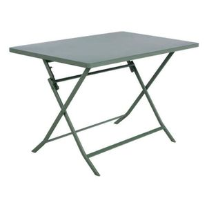 TABLE DE JARDIN  TABLE PLIANTE GREENSBORO HESPERIDE RECT. KAKI