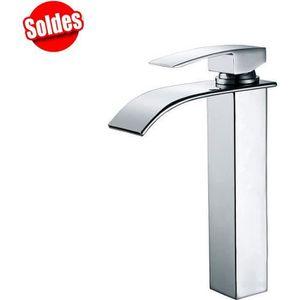 lavabo lavabo finition nickel bross/é lavabo Robinet de salle de bain mono cascade haut pour lavabo