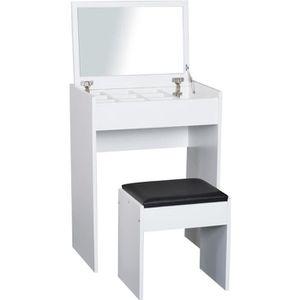 COIFFEUSE Coiffeuse table de maquillage avec tabouret miroir