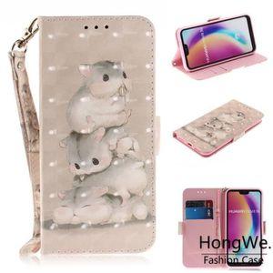 HOUSSE - ÉTUI Huawei P20 Lite Coque, Etui 3D Motifs PU Cuir Anti