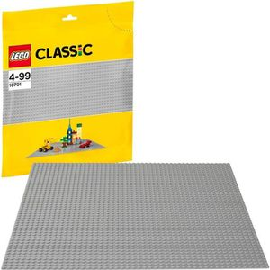 ASSEMBLAGE CONSTRUCTION LEGO® Classic 10701 La Plaque de Base grise