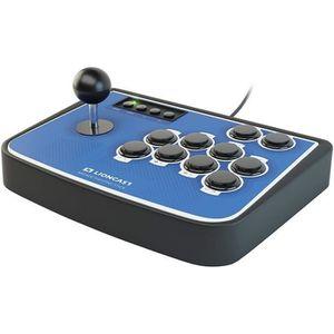 JOYSTICK JEUX VIDÉO Manette Joystick Lioncast Bleue Arcade pour PS4, P