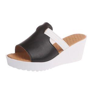SLIP-ON Mode féminine Slip Casual Sur Wedges Plates-formes