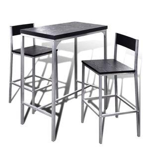 TABLE À MANGER COMPLÈTE Ensembles de salle à manger Jeu de bar petit-déjeu