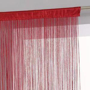 RIDEAU Paris Prix - Rideau Fil 120x240cm Rouge