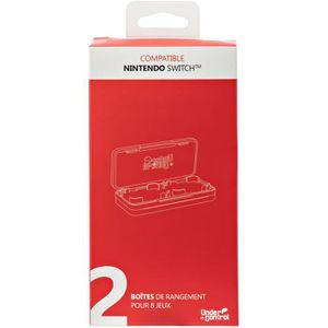 PACK ACCESSOIRE 2 Boîtes de jeux avec 4 compartiments pour Nintend