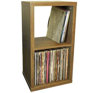 CASIER POUR MEUBLE CUBE - 2  etageres de rangement vinyls  LP - finit