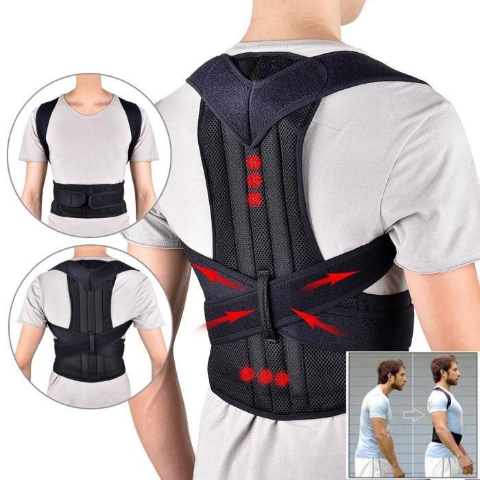 Gilet ajustable pour le dos, ceinture correctrice de Posture, pour adulte, entraîneur de Correction de la taille, [076E981]