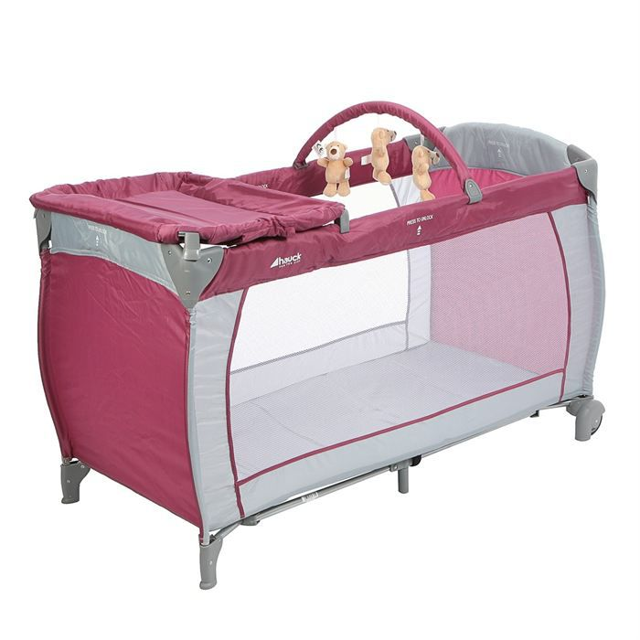 hauck lit parapluie baby center prune achat vente lit pliant 4007923607701 cdiscount. Black Bedroom Furniture Sets. Home Design Ideas