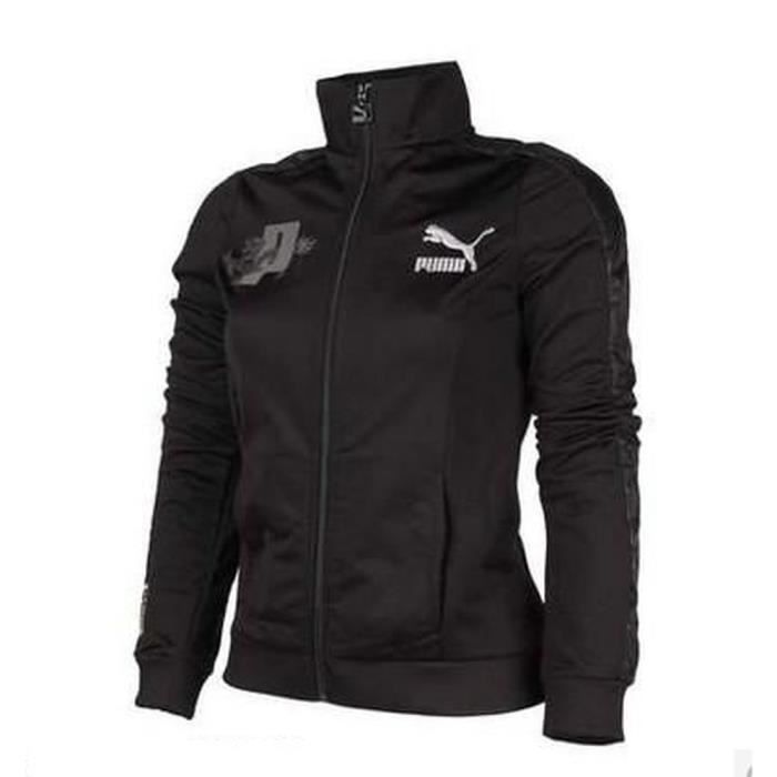 puma veste femme noir achat vente veste de sport cdiscount. Black Bedroom Furniture Sets. Home Design Ideas