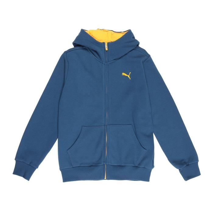 PUMA Veste Sweat Zippé FD Hooded - Enfant Mixte - Bleu
