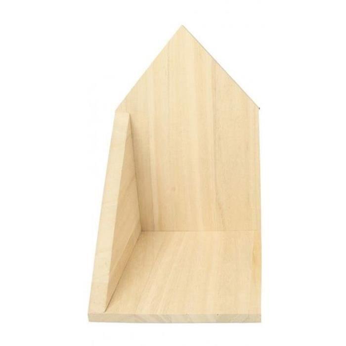 Etagère d'angle en bois 14,7 x 22 x 16 cm - ouverture à droite