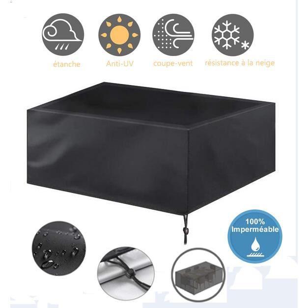 242*162*100cm - Housse Salon de Jardin, Protecteurs Anti-UV Imperméables de Patio de Tissu de 420D Oxford