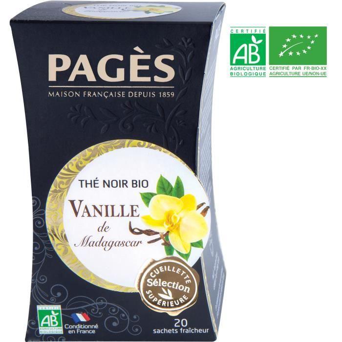 PAGES Thé Noir Vanille de Madagascar - Bio