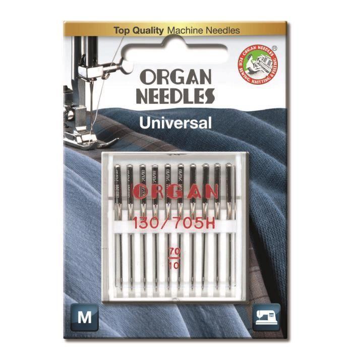 Organ aiguilles pour machine à coudre, Universel (Standard), Taille 70/10
