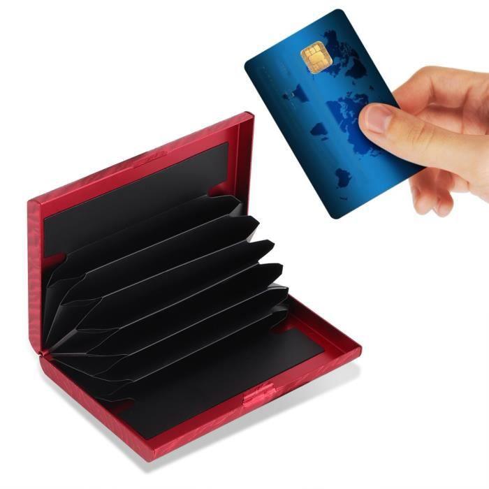 Étui de protection pour porte-cartes de crédit pour portefeuille Boîte à cartes anti-magnétique bloquant RFID