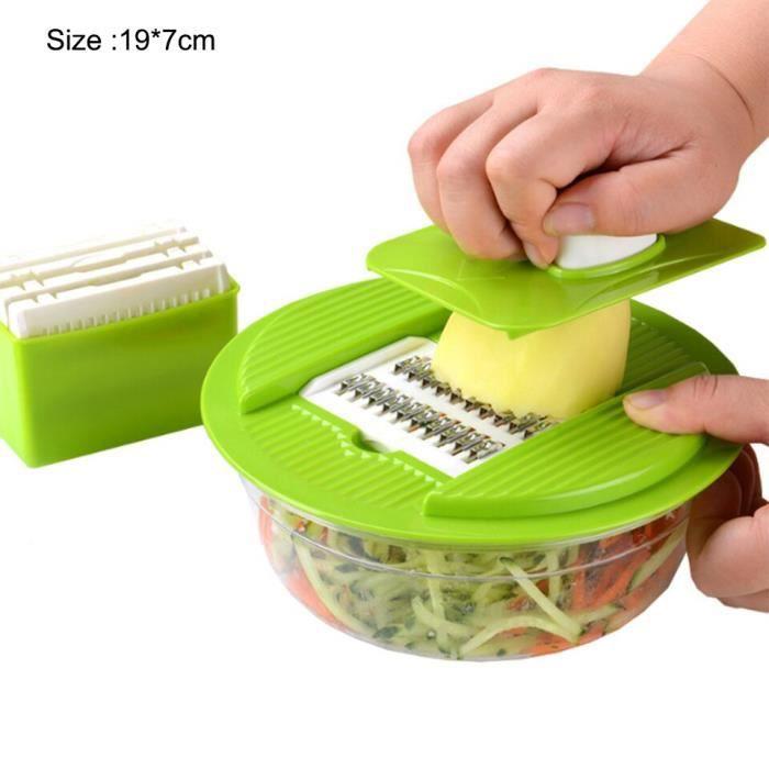 Hachoir manuel,Hachoir à ail, hachoir à légumes manuel, hachoir à carottes et à viande, rapide à la main, - Type Vegetable Cutter 2