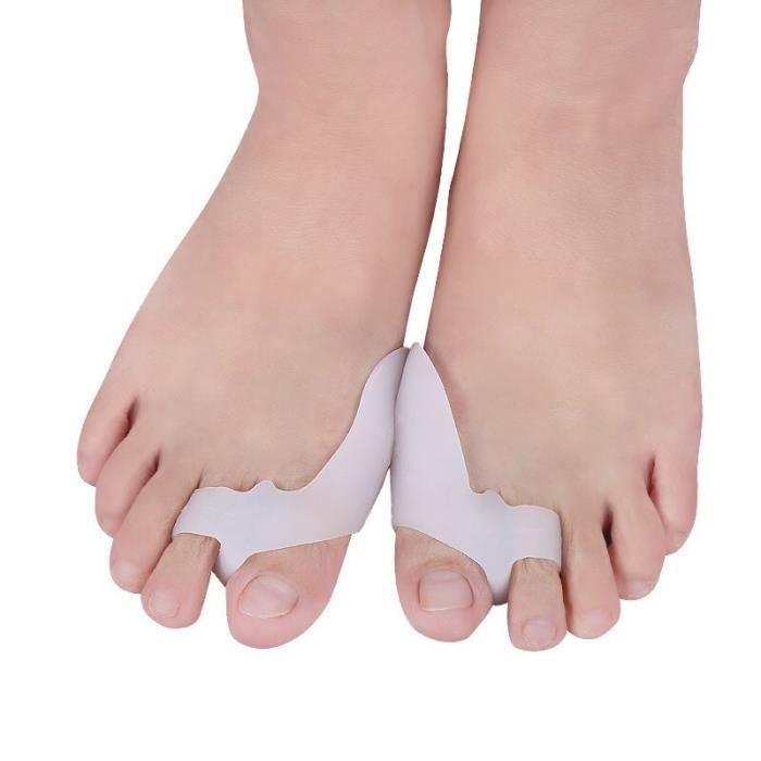 Soin du corps,Orthèse d'hallux Valgus en Gel de Silicone,1 paire,séparateur de gros orteils,soin pédicure,régulateur - Type WHITE