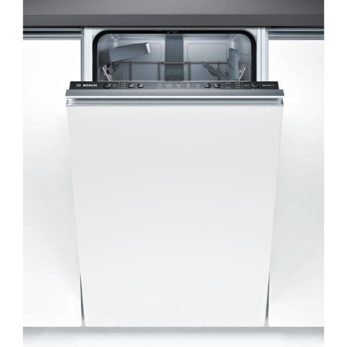 Lave-vaisselle tout encastrable BOSCH SPV25CX00E - 9 couverts - Largeur 45 cm - Classe A+ - 45 dB
