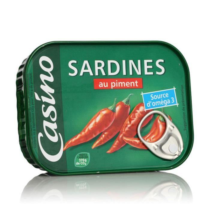 Sardines huile tournesol piments