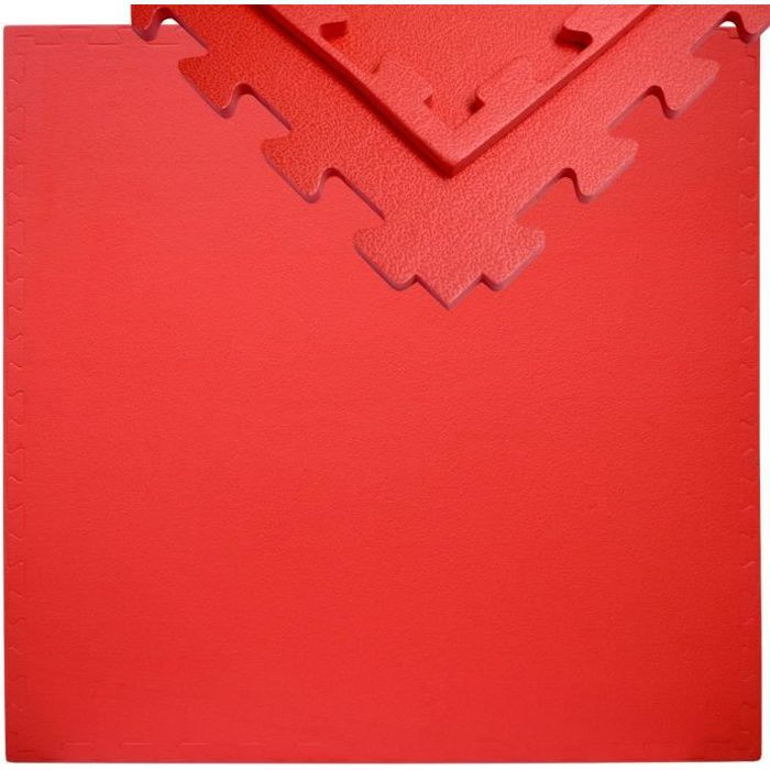 eyepower Tapis Puzzle de Fitness 90x90cm incl embouts extensible 12mm Rouge